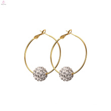 Women Fashion Pearl Drop Stainless Steel Earrings, Tassel Jewelry Crystal Stainless Steel Hoop Earring