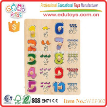 2015 top quality best children Number Puzzle With Wood Peg