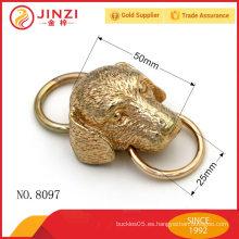 Gran dibujo de encargo del perro con la decoración del anillo de O para el bolso