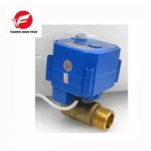 Válvula de bola eléctrica 12v CR01 dn15 ss304 CWX-25S 2.5nm