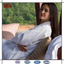 Großhandel rosa eleganten Farbe Kimono Stil 100% Baumwolle Velour Bademantel