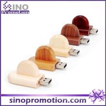 Bamboo Rounded Corner Bulk Wood USB Flash Drive