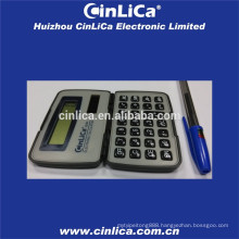 two power way small black pocket calculator with cover