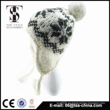 El 100% jacquard de acrílico hizo punto el sombrero de la gorrita tejida en invierno