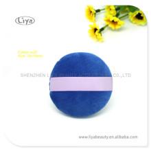 Maquillage bleu de Velet houppette avec ruban de Satin