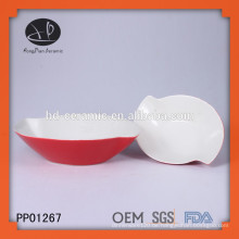 Farbe glasierte keramische tiefe Schüssel Suppenschüsseln
