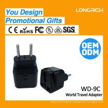 Multifuncional Travel Plug pared usb socket ce rohs aprobado