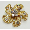 Flower Design Gold Metal Shoe Clips