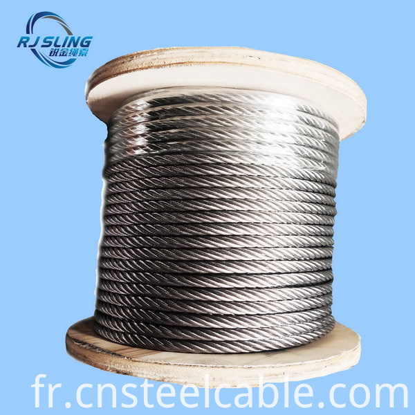Stainless Steel Wire Rope 7x19 8 0