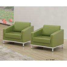 Зеленый цвет кожи Офисный диван стул (8553)