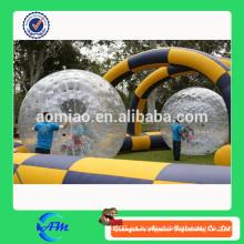 Raza zorbing bola hierba inflable zorb bola para niños y adultos