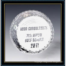 Engraved Crystal Ball Paper Weight Gift
