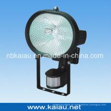 Lâmpada de halogéneo de 500W com sensor PIR (KA-FL-500D)