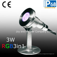 Светодиодный подводный прожектор RGB 3W для освещения бассейна (JP-95316)
