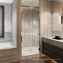Lifetime Warranty Hotel Hinges Frame bathroom small Tempered Glass Shower Doors