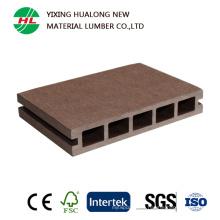 Plancher extérieur en plastique composite en bois de bois de platelage creux de WPC