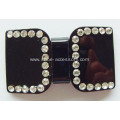 Black Rhinestone Shoe Buckle, Acrylic Dress Buckle