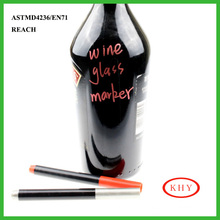 Metallic color collection metallic marker pen hang on wine bottle