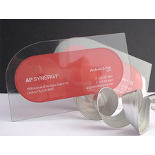 Heiße Verkaufsfabrik freie transparente Visitenkarte