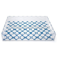 HIgh Quality Clear Acrylic Serving Tray with insert and handles