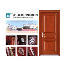 Puerta de madera maciza con aprobación ISO9001 (LTS-310)