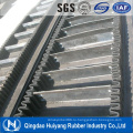 Хорошее качество большой угол гофрированный боковины конвейерная лента с SGS и форма