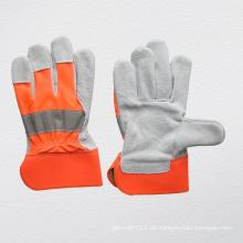 Kuh Split Leder Palm Cotton Back Handschuh (3031)
