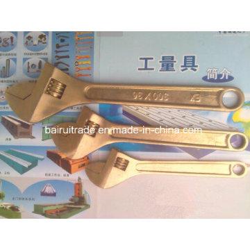 Nicht Sparkinig Tools Sicherheitsschlüssel Kupferschlüssel Messing Verstellbarer Schraubenschlüssel