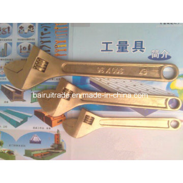Non Sparkinig Tools Safety Wrench Copper Wrench Brass Adjustable Wrench