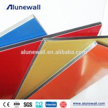 Décoration murale colorée couvrant les panneaux ACP acm panneau composite en aluminium