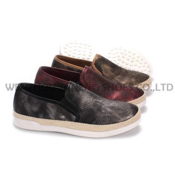Damenschuhe Freizeit PU Schuhe mit Rope Outsole Snc-55001