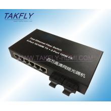 10/100m 2-Port Fx + 6-Port Tp Fiber Switch