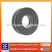 De la forma del cilindro del anillo redonda Fuerte imán sinterizado del motor de NdFeB / imán revestido del anillo de NICUNI para la venta
