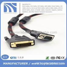 Câble VGA M / M V1 24 + 1 à 15 broches pour DVD LCD HDTV PC 1080P