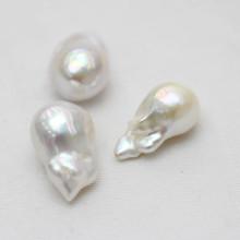 13-15mm Aaaa Qualität Weiß Barock Nucleated Loose Perlen Großhandel
