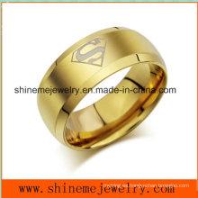 Shineme joyas de oro de acero inoxidable popular anillo de joyería (SSR2770)