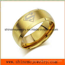Shineme Jewelry Golden Stainless Steel Popular Jewelry Ring (SSR2770)