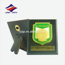 Popular green custom logo wooden wall award plaque