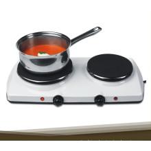 Hornilla eléctrica portátil de la hornilla de 2 hornillas en venta