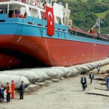 Airbags de borracha para o lançamento do barco