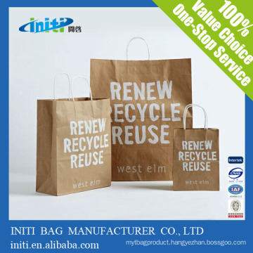 2016 INITI Factory Recyclable quality laminated unique paper bag