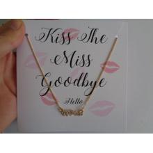 Valentine′s dia de colar e brinco com Gift Card