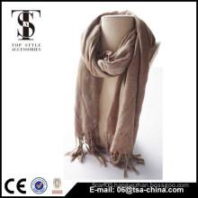 super soft 2015 Lady gilding long shawl neck coffee color 100% viscose scarf