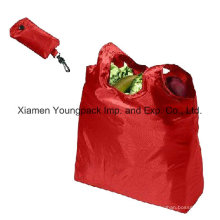 Promotional Foldable Recycle Reusable 100% Polyester Cloth Grocery Store Bags
