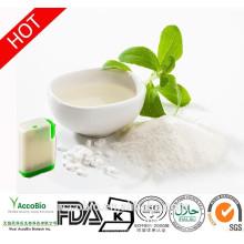 Venta caliente 100% Extracto de hoja de Stevia orgánico natural para edulcorante