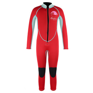 Trajes de neopreno Seaskin Kids Front Zipper Red Color Freediving