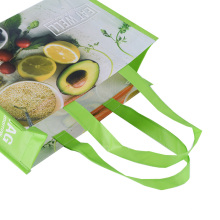 Waterproof PP Woven double handles polypropylene Recyclable PP NonWoven laminated shopping bag