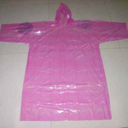 purple pe raincoat