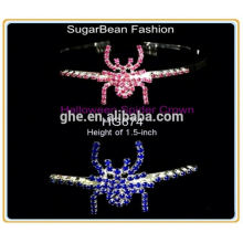 Novos designs de strass baratos baratas de coroa tiara princesa tiara coroa e varinha tiara coroa tiaras completas