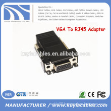 Female VGA Extender Adapter to CAT5/CAT6/RJ45 Cable Connector